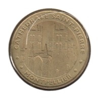 34002 - MEDAILLE TOURISTIQUE MONNAIE DE PARIS 34 - Cathédrâle Saint Pierre - 2012 - Monnaie De Paris