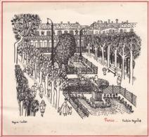 Carte Postale MEILLEURS VOEUX - Paris Palais-Royal - Illustratrice Régine CARLIER - Année 1954 - Neujahr