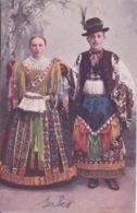 SERBIE - Serbien - COUPLE DE SERBES - MODE TENUE COSTUME EPOQUE SERBE - Serbie