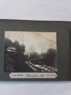 2 VISA VERSA ORGINELE FOTO  SUR CARTON AFMETINGEN 8 CM OP 9 CM SWISS WENGEN ALP RAILWAY STATION ET BAREGG - Suiza