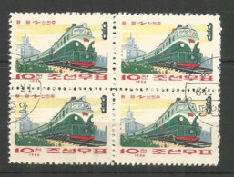 Korea 1964 Used Stamps Trains - Corée Du Nord