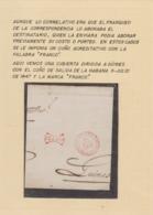Prefilatelia  Año 1847   Envuelta  A Guines     Marcas  Rojas  Habana,  Franco - Prefilatelia