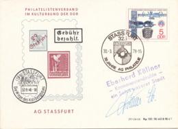 DDR 1978 Sonderausgabe Schmuckpostkarte Sonderstempel - DDR