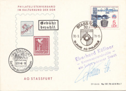 DDR 1978 Sonderausgabe Schmuckpostkarte Sonderstempel - [6] Democratic Republic