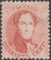Belgique 1863 COB / Y&T 16A Neuf Sans Gomme, 2ème Choix, Déchirure. 40 C Médaillon Dentelé 12 1/2 X 13 1/2 - 1863-1864 Medaglioni (13/16)