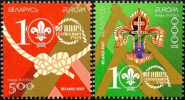 CEPT / Europa 2007 Bielorussie N° 587 Et 588 ** Le Scoutisme - Enfants - 2007