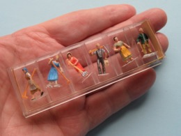 Lot Of Original PREISER Miniaturfiguren ( Please See Photo For Detail ) Uncleaned * RARE ( Numbers ? ) !! - Avions & Hélicoptères