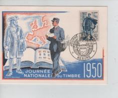 PR7174/ TP 863 Journée Nationale Du Timbre 1950 C.Journée Du Timbre 11/3/50 Facteur Rural Beaune - Maximum Cards