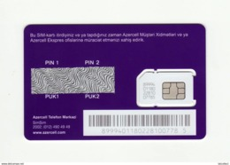 AZERBAIJAN Azercell GSM SIM MINT - Azerbaïjan