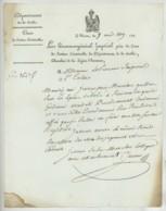 LAS Nicolas-Louis Juteau Procureur-général Impérial Près La Cour De Justice Criminelle De La Sarthe . Le Mans 1809 . - Autographes