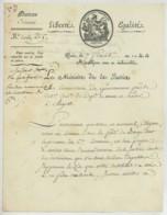 LS 1802 André-Joseph Abrial Ministre De La Justice . Assassinat D'un Garde Forestier . Forêt De Baugé (Maine-et-Loire). - Autographes