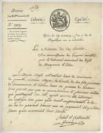 LS Jean-Joseph-Victor Génissieu Ministre De La Justice . Cultivateur Bigot De Jumelles Détenu Pour Chouannerie . 1796 . - Autographes