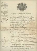 Certificat . Mort Probable Soldat Du 26e D'Infanterie Légère Pendant La Retraite De Russie . Montreuil-sur-Maine . 1818 - Documents