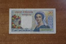 French Polynesia Tahiti 20 Francs - Papeete (French Polynesia 1914-1985)