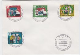 Germany FDC 1961 Wohlfahrtsmarken (G102-24) - FDC: Briefe