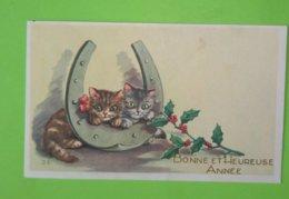 Carte Mignonette Jeanne Lagarde Chatons Bonne Et Heureuse Année - Illustrateurs & Photographes