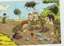Illustrateur :  Jean  POL : La  Pétanque  ,  Soldat - Künstlerkarten