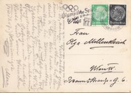 DR 1936 - Fotokarte ALMA VON GOETHE Gel.1936 Mit DR-MIF, Sonderstempel Olymp.Spiele - Briefe U. Dokumente