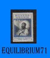 176** - 4e Centenaire De La Mort De St François Xavier - RUANDA URUNDI - 1948-61: Nuovi