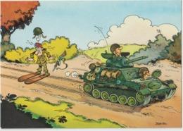 Illustrateur :  Jean  POL :   ,  Soldat ,  Char -  Ski - Künstlerkarten