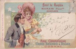 [14] Calvados > Honfleur Hotel Du Dauphin Proprietaire Marais Carte Commerciale Marie Brizard Précurseur - Honfleur