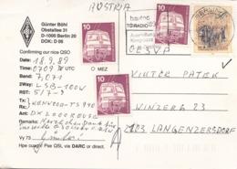 QSL Karte DL 7 ALS, Karte Gel.mit MIF 1989 - BRD