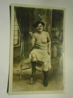 CPA Nu Féminin,écrite Année 1905,très Bel état,colorisée - Fotos
