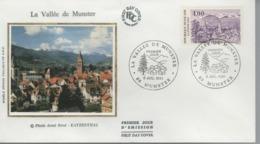 FDC - 1er Jour LA VALLÉE DE MUNSTER - 6 Juillet 1991 - MUNSTER - FDC