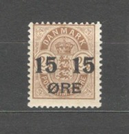 Denmark - 1904 Mino 40 MLH* - Nuovi