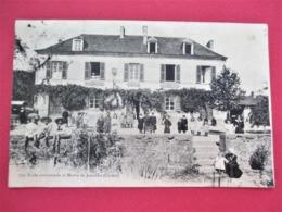 Ecole Communale Et Mairie De JANAILLAT - Tres Belle Animation Avec Ecoliers - - Voyagée En 1907 - - Francia