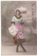 JUNGE DAME Jugendstil Mode Paris, Karte Gel.1916, Gebrauchsspuren - Mode