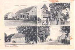 Gruss Aus WITZKE Gem Seeblick Pfarrhaus Dorfstrasse Gasthof Lienemann 13.7.1907 Gelaufen - Rhinow