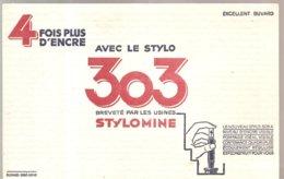 Buvard 4 Fois Plus D'Encre Avec Le Stylo 303 Breveté Par Les Usines STYLOMINE - Papeterie