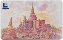 Thailand - LENSO (Chip) - Phrasri Sanphet Temple - 500฿, Used - Tailandia