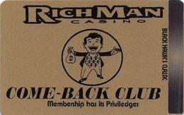 RichMan Casino Black Hawk, CO - Gold Come-Back Club Slot Card - No Barcode On Back - Casino Cards