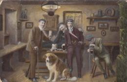 Deutsche Volksliederkarte Gel.1915, Studentika, Ecken Bestossen - Feiern & Feste