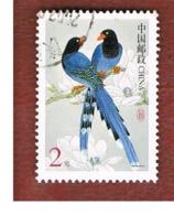 CINA  (CHINA) - SG 4677  - 2002 BIRDS: TAIWAN BLUE MAGPIE  USED - Usati
