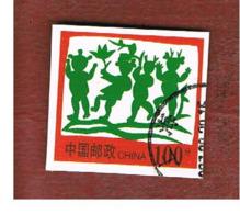 CINA  (CHINA) -  2000  POSTAL WHOLE FRAGMENT:   100   USED - Usati