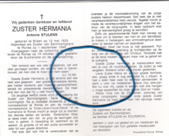DP Eerw. Zr. Antonie STULENS Bilzen 1925-1999 Ronse (Zr. Hermania / Zr. V. Barmhartigheid) - Godsdienst & Esoterisme