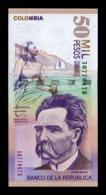 Colombia 50000 Pesos 2014 Pick 455 New SC UNC - Colombia