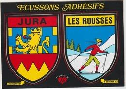 Jura :  LES  ROUSSES  : Carte  Autocollant - France
