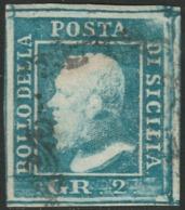 Sicilia, 2 Gr. I Tav. Azzurro Chiaro NA N.6g Cv 600 - Sicilia