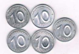 10 PFENNIG LOT DDR DUITSLAND /6738/ - [ 6] 1949-1990 : GDR - German Dem. Rep.