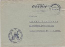 German Feldpost WW2: Flak Ersatz Regiment 2 In Frankfurt P/m Frankfurt (Main) 23.8.1942 - Cover Only  (G102-25) - Militaria