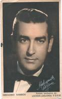GREGORIO BARRIOS Argentina Tango Singer With Autograph Dedicacee Publicity Photo 1940' Whith Tango Lirycs - Fotos Dedicadas
