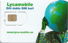 Norway - Lycamobile - Ditt Doble SIM Kort GSM SIM5 Mini-Micro Chip, Mint - Noorwegen
