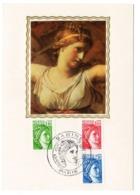 Carte Maximum 1981 -  Sabine De Gandon YT 2154 - 2155 - 2156  Paris - 1980-89
