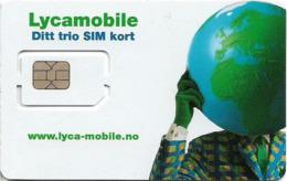 Norway - Lycamobile - Ditt Trio SIM Kort GSM SIM6 Mini-Micro-Nano, Mint - Noorwegen