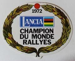 Autocollant 1972 Lancia Champion Du Monde Des Rallyes Voiture Course Automobile - Autocollants