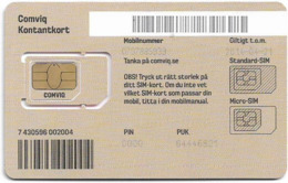 Sweden - Comviq - Billigt, Billigt - 21-04-2014 (Gray) GSM SIM5 Mini-Micro, Mint - Schweden